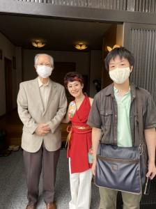 作曲家の鈴木英明先生(左)と、中村徹様(右)