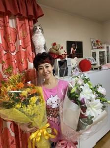 主催の摩耶文化サロンさま、大森香奈後援会倶楽部さま、素敵なお花をありがとうございます!!